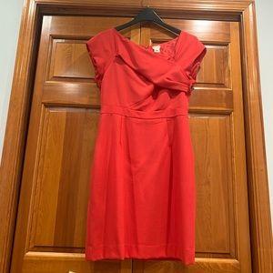 Stunning wool mini dress with asymmetric collar